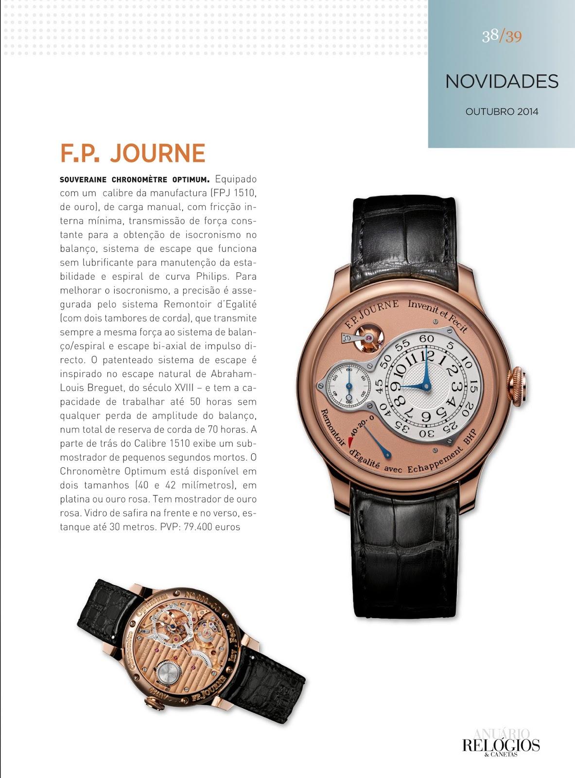 10c7cf3b690 Relógios   Canetas online - relógio F.P.Journe Souverain Chronomètre Optimum