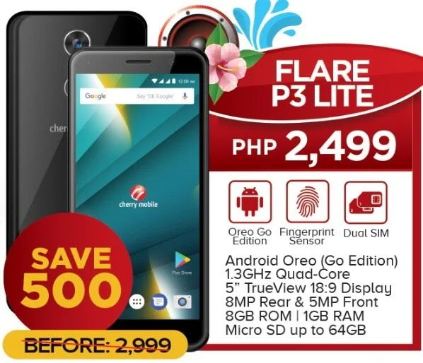 Cherry Mobile Flare P3 Lite Now Only Php2,499