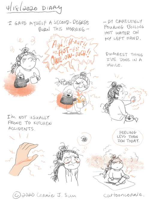 journal comic, sketchbook, comics, illustration, visual diary, diary comics, connie sun, cartoonconnie