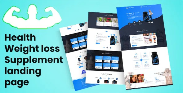 Best weight loss heathcare Responsive Landing Page Template
