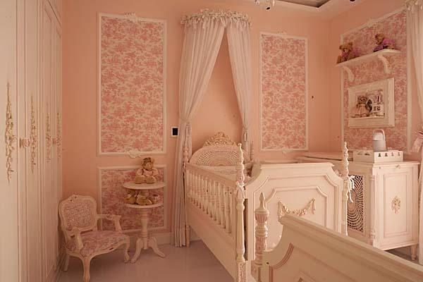 Dormitorio de bebé salmón