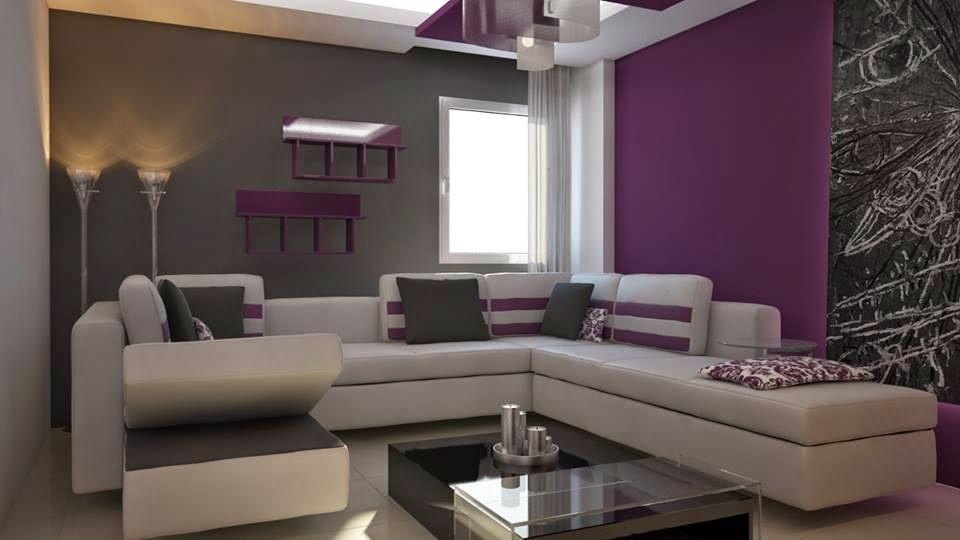 Apartment Decorating With Fantastic Purple Color Decor Units