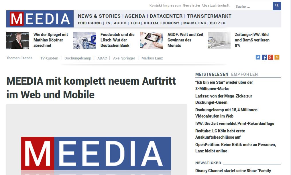 Newsletter-Tipp: meedia.de