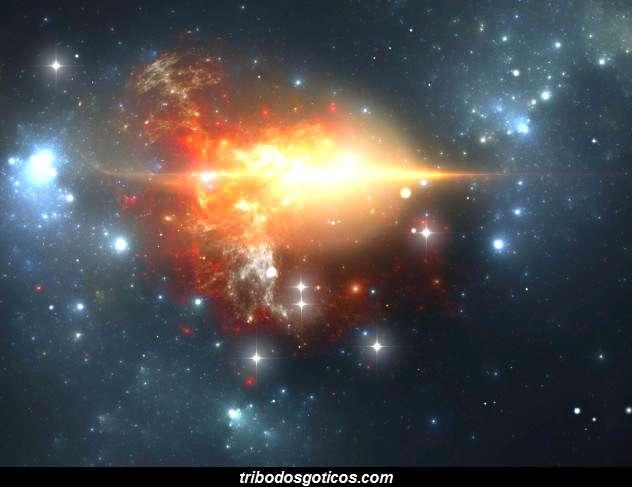universo raios cosmico galaxia explosão estrelas