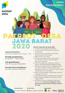 Loker Patriot Desa Jawa Barat Terbaru 2020
