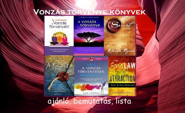 Vonzás törvénye könyvek ajánló, bemutatás, lista