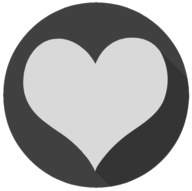 heart blackout icon