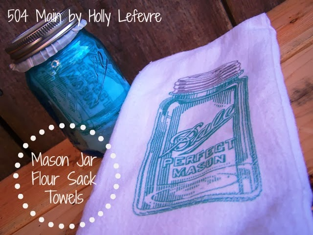 Mason Jar Flour Sack Towel by 504 Main