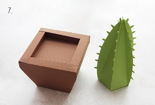 3d paper cactus in a pot tutorial
