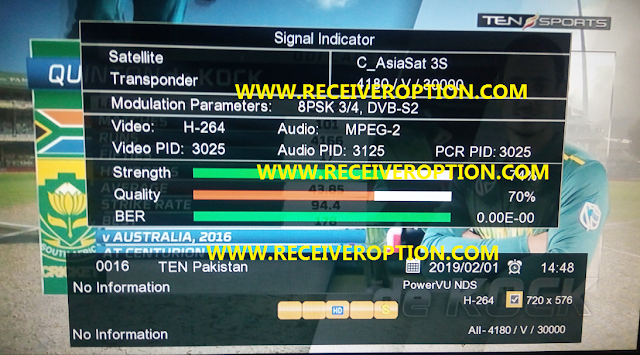 GX6605S HARDWARE VERSION HW203.00.029 POWERVU KEY NEW SOFTWARE