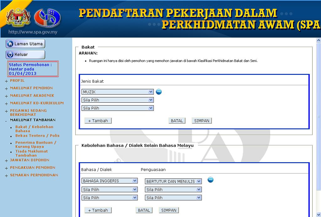 Informasi Terkini Panduan Lengkap Mengisi Borang Spa8i