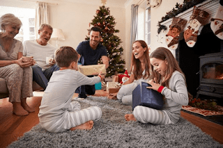 Burbujas familiares en Navidad