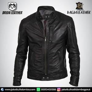 Jual Jaket Kulit Asli Garut Pria Domba Original Brida Leather B56   WA 08813430588