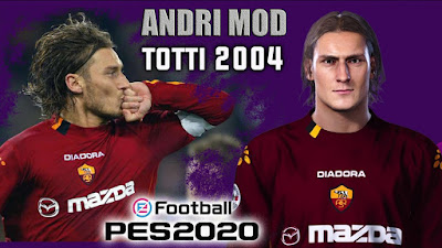 PES 2020 Faces Francesco Totti by Andri Mod
