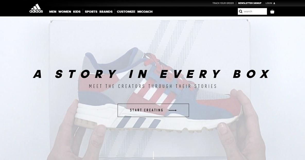 Customize Adidas Shoes Website