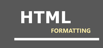 HTML text formatting tags