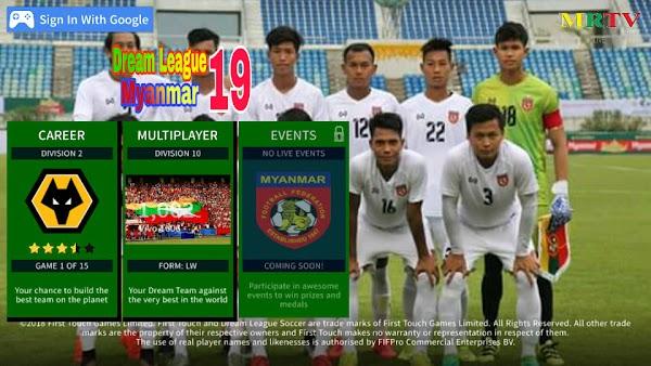 Dream League 2019 MOD (Myanmar U-22(2019)