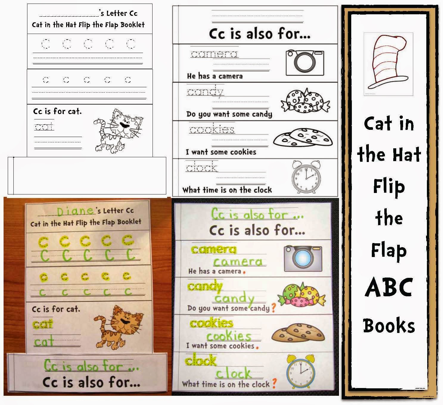 Classroom Freebies Cat In The Alphabet Hat Common Core Packet