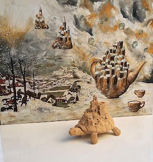 scultura ceramica tartaruga mondi immaginari sculpture céramique tortue mondes imaginaires  ceramic turtle tortoise imaginary worlds