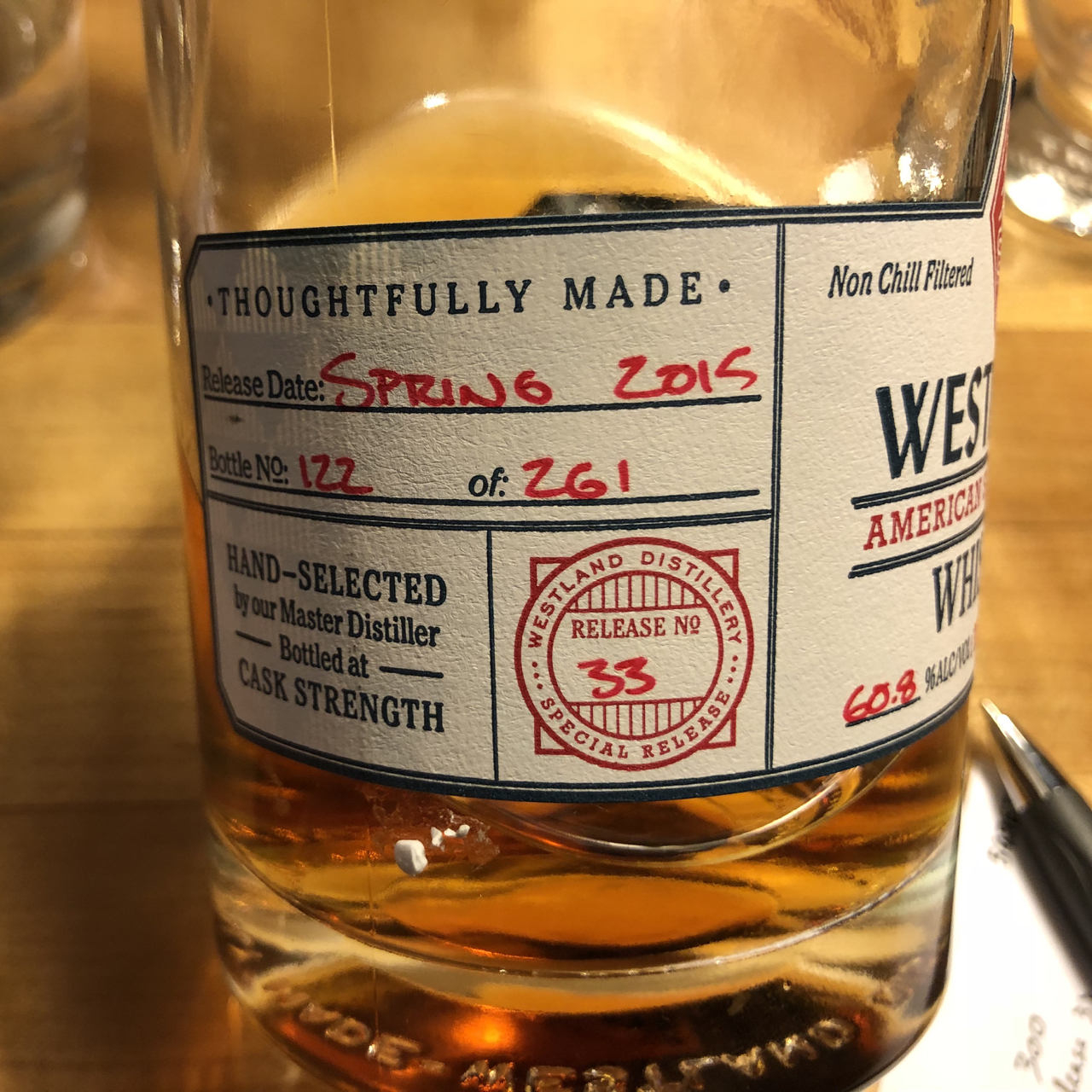 Diving For Pearls Westland 2 Year Old 2012 Cask 300 For K L Wines