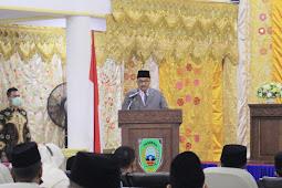 Benny Utama Sampaikan Visi dan Misi Pada Sidang Paripurna Ke-VII DPRD Pasaman