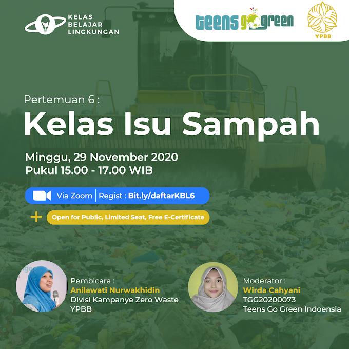 Belajar Isu Sampah dengan Yayasan Pengelolaan Biosains dan Bioteknologi (YPBB)