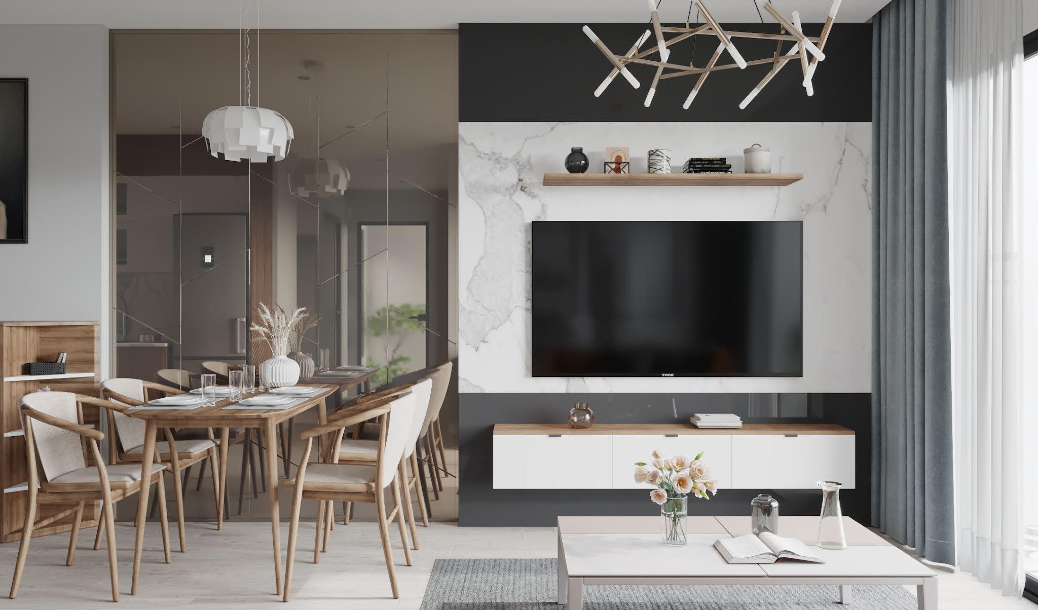 Thiết kế nội thất căn hộ 55m2 Vinhomes Smart City Tây Mỗ