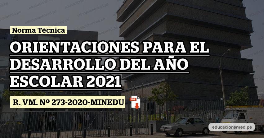 MINEDU publicó Anexos de la Directiva del Año Escolar 2021 (R. VM. Nº 273-2020-MINEDU)