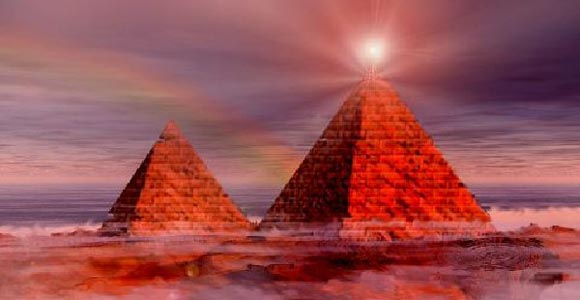 Pirámides del mundo Transmisión de Energía Para Nube espacio misterioso