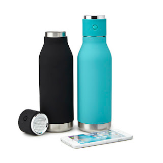 KMich Weddings and Events-Bluetooth-speaker-and-water-bottle