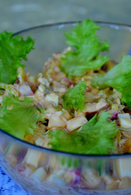 patisony orzech,pieprz ziolowy skworcu,sałatka na wielkanoc,sałatka naświęta,szybka sałatka,
