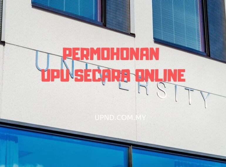 Permohonan UPU Online