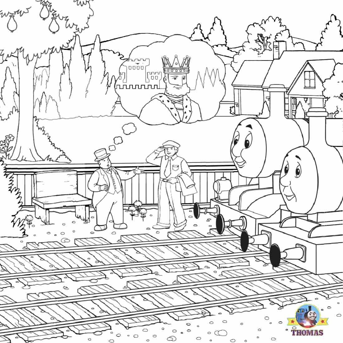 Lets Coloring Book Thomas Tank The Train Coloring Steam Engine