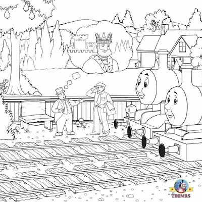 LETS COLORING BOOK: Thomas Tank The Train Coloring Steam