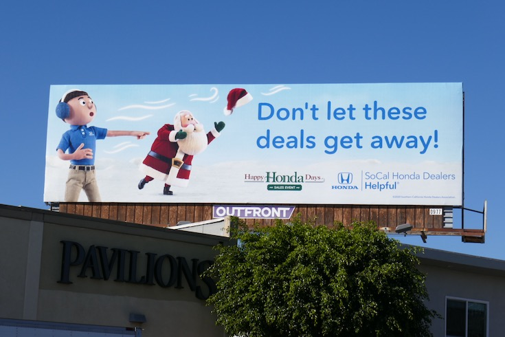 Happy Honda Days deals get away billboard
