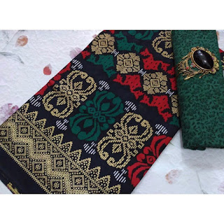 Kain Batik dan Embos 108 Pekalongan motif Prada Hijau