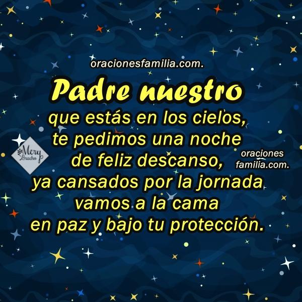 Oración corta cristiana para la noche, oraciones religiosas para la hora de dormir en la noche por Mery Bracho con imágenes.