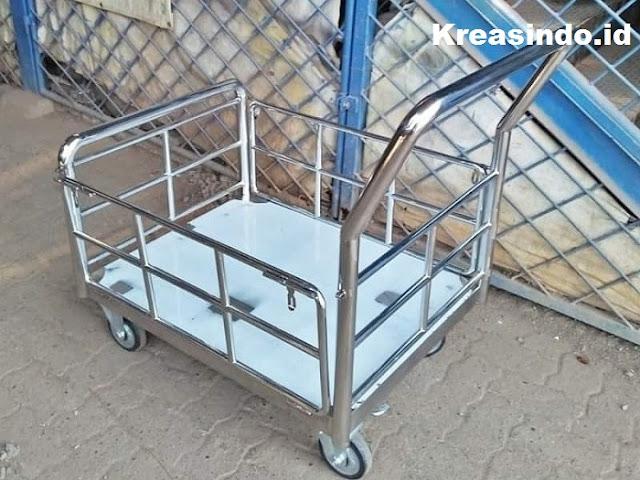 Jasa Pembuatan Trolley Barang Stainless Harga Bersaing