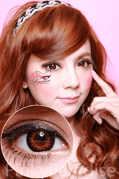 GEO Xtra WBS 204 Bella Brown Circle Lenses (Colored Contacts)