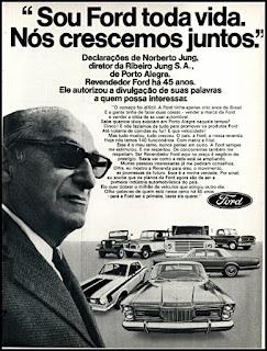 propaganda veículos Ford - 1972, Ford Willys anos 70, carro antigo Ford, década de 70, anos 70, Oswaldo Hernandez,