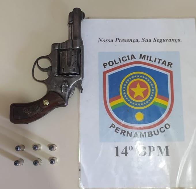 Homem é preso com arma de fogo em Betânia, Sertão de PE