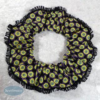 Halloween Dog Scrunchie Ruffle, Spooky Spots