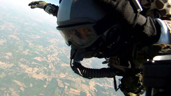 The free fall as seen from a GoPro camera attached to my left glove, on April 29, 2013.