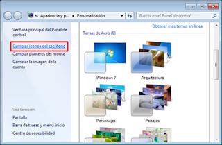 Cómo personalizar los iconos del escritorio de Windows 7