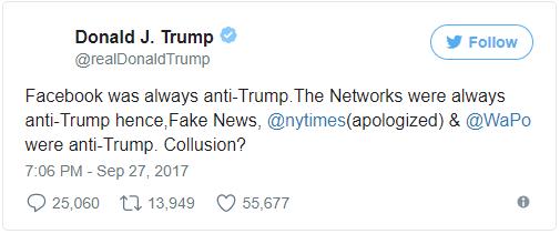 Mark Zuckerberg Responds To Trump's Allegations That Facebook Has Always Been 'Anti-Trump'