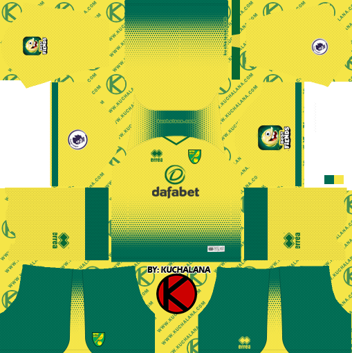 Norwich City Fc 2019 2020 Kit Dream League Soccer Kits Kuchalana