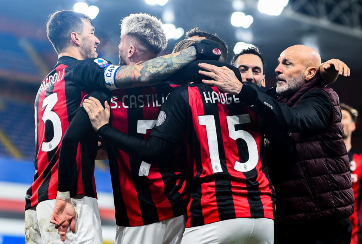 AC Milan continue to lead the way in the Italian Serie A