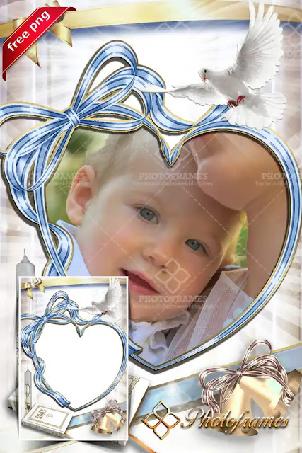 Marco digital para fotos de bautismo gratis