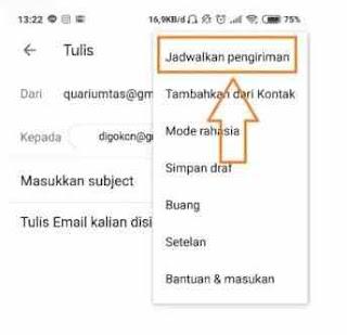 Pilih jadwal Pengiriman di Gmail.com
