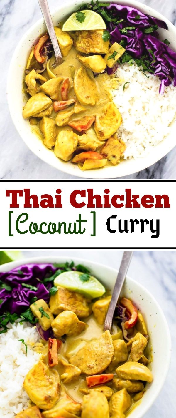 Thаі Chісkеn Cосоnut Curry #Thаі #Chісkеn #Cосоnut #Curry Healthy Recipes For Weight Loss, Healthy Recipes Easy, Healthy Recipes Dinner, Healthy Recipes Best, Healthy Recipes On A Budget, Healthy Recipes Clean, Healthy Recipes Breakfast,